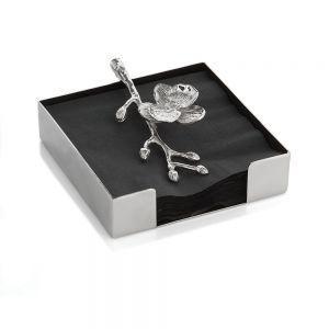 Michael Aram   White Orchid Cocktail Napkin Box $65.00