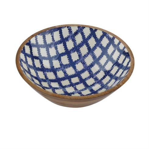 $44.00 Bungalow Small Wood/Enamel Bowl