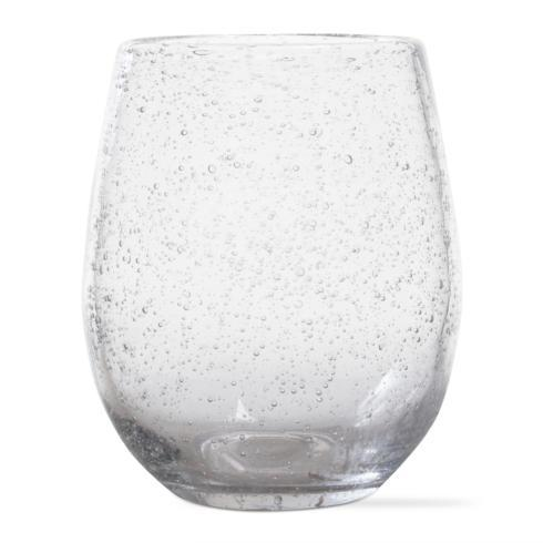 Housewares   Tag Clear Bubble Glass stemless $10.00