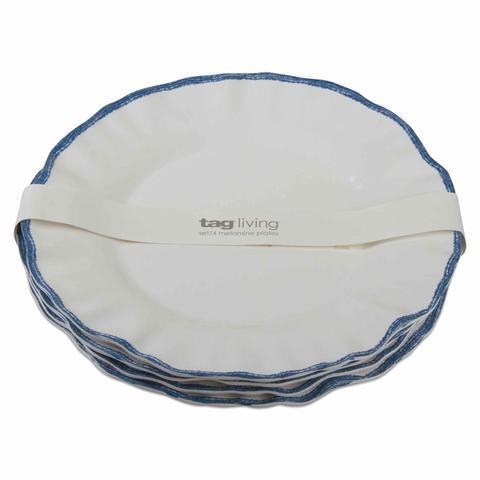 Housewares   Ruffle Rim Melamine Dinner Plate $13.00