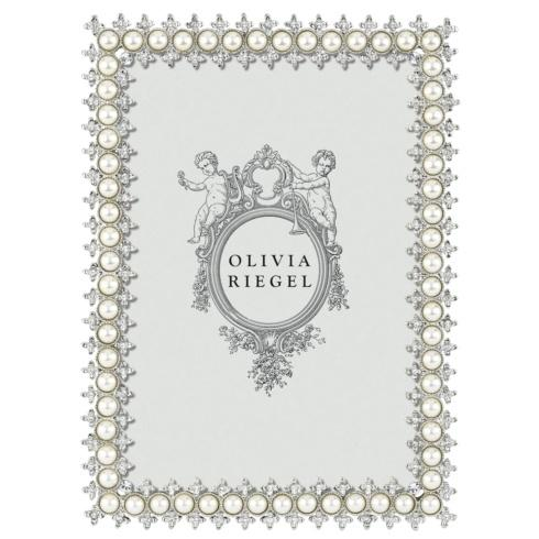 "$99.00 Crystal & Pearl 5"" x 7"" Frame"