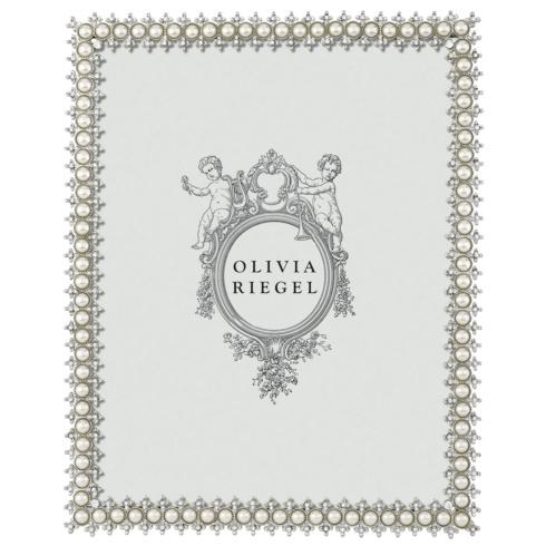 "$165.00 Crystal & Pearl 8"" x 10"" Frame"