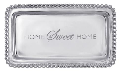 "Mariposa  Engraved Statements "" Home Sweet Home"" Tray $39.00"