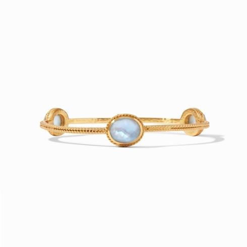 $130.00 Julie Vos Calypso Bangle Iridescent Chalcedony Blue