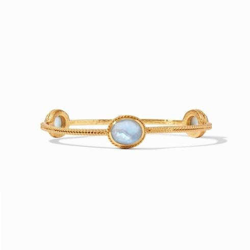$130.00 Julie Vos Calypso Bangle Iridescent Chalcedony Blue