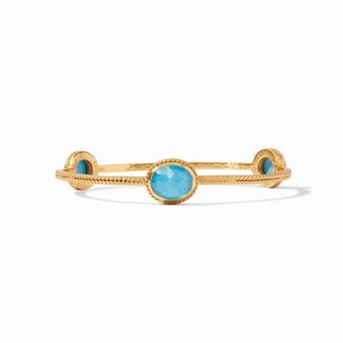 $130.00 Julie Vos Calypso Bangle Iridescent Pacific Blue