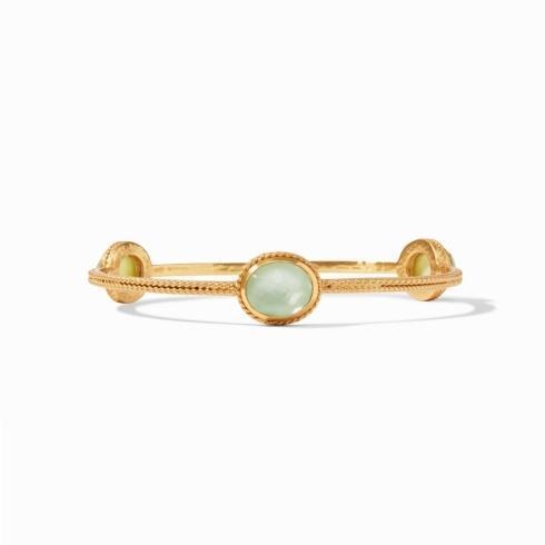$130.00 Julie Vos Calypso Bangle Iridescent Seaglass Green