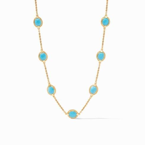 $175.00 Calypso Delicate Necklace Pacific Blue