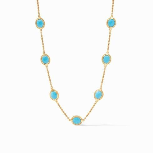 $175.00 Calypso Delicate Necklace Pacific Blue