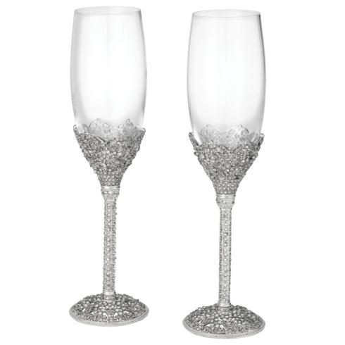 $299.00 Crystal Sinclair Flute Set of 2 - 7 oz.