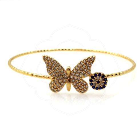 $24.00 Butterfly Evil Eye Bracelet