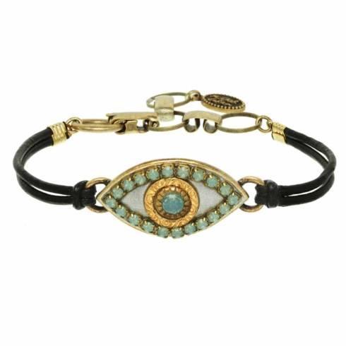 $55.00 Medium gray evil eye bracelet