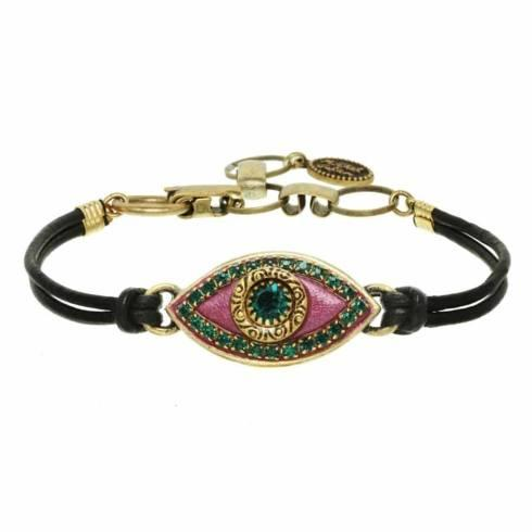 $55.00 Medium purple evil eye bracelet
