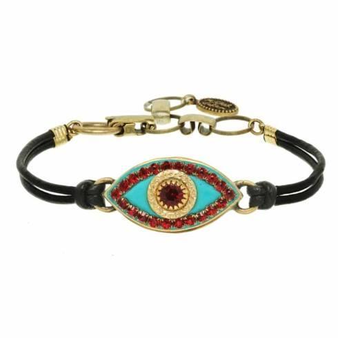 $55.00 Medium teal evil eye bracelet