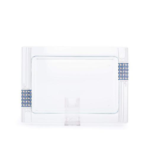 $89.00 Dimlaj Asala Large Rectangular Serving Plate (Gold & Blue)