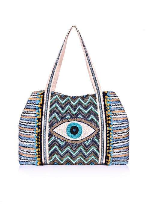 $165.00 Evil Eye Shoulder Bag
