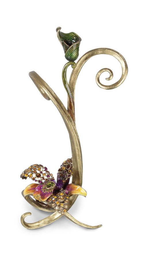Mirabelle Orchid Single Candlestick - Flora collection with 1 products