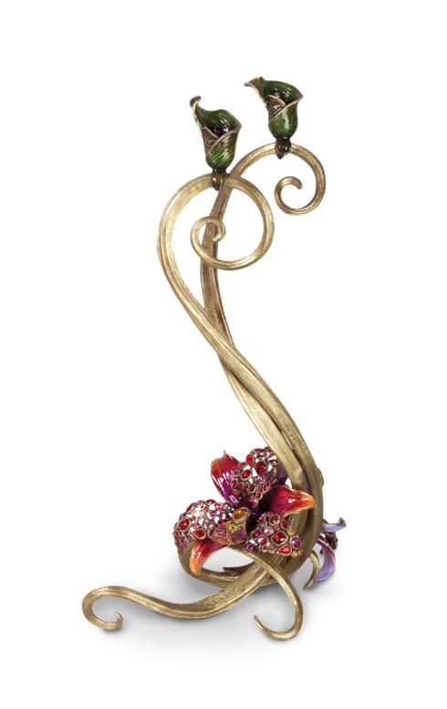 $2,800.00 Roselyn Orchid Double Candlestick - Flora