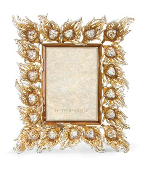 $2,500.00 Ferdinand Peacock Feather Frame - Golden