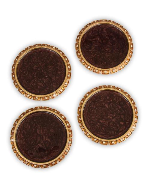 Jay Strongwater   Bentley Jeweled Edge Coasters - Amber Set of 4 $375.00