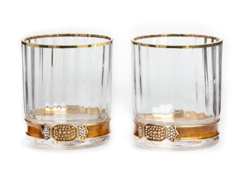 $395.00 Hudson Double Old Fashioned Glasses - Amber