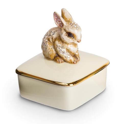 $225.00 Lia Bunny Porcelain Box - Natural