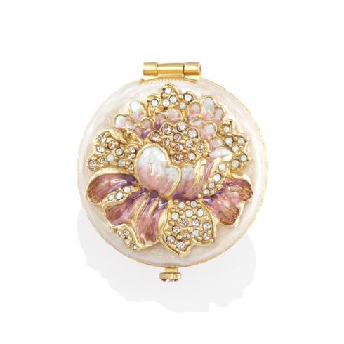 $195.00 Angela Round Floral Compact