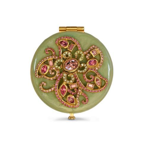 $225.00 Elizabeth Flower Jeweled Compact