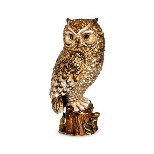 "$1,400.00 Milo Owl 7"" Figurine - Natural"