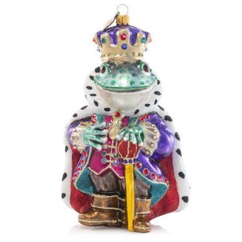 $185.00 Prince Frog Glass Ornament