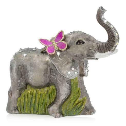 $155.00 Elephant Glass Ornament