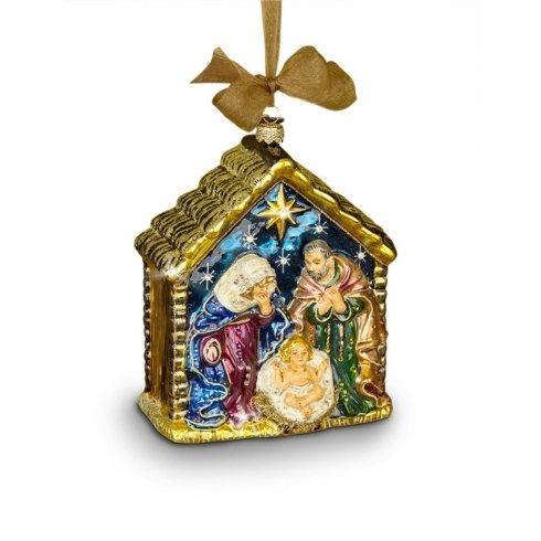 $175.00 Holy Family Glass Ornament