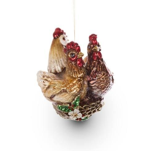 $165.00 Three French Hens Glass Ornament
