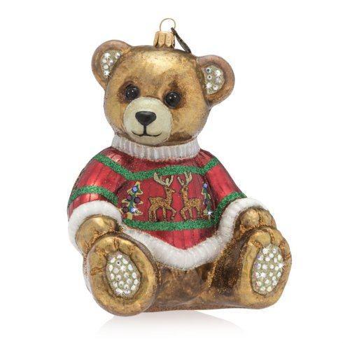$165.00 Teddy Bear Glass Ornament