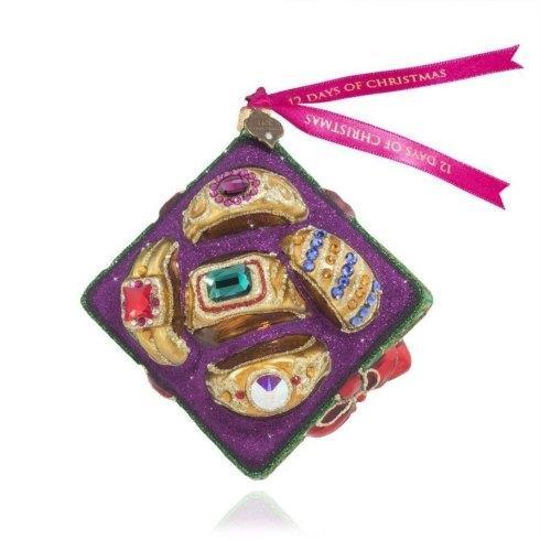 $165.00 Five Golden Rings Glass Ornament