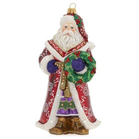 $165.00 Santa Glass Ornament