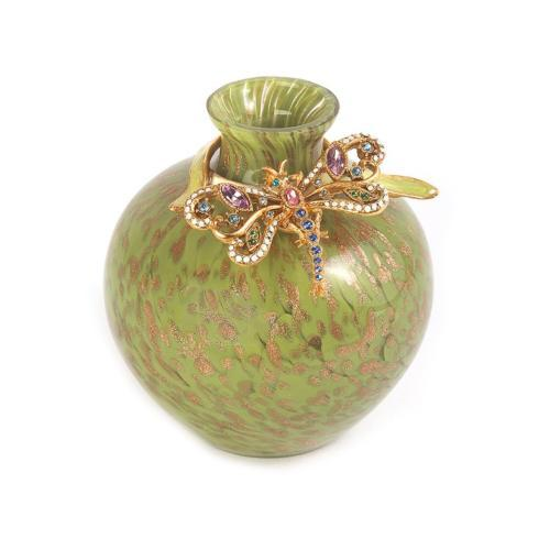 $175.00 Alice Dragonfly Vase - Leaf