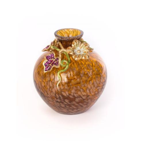 $225.00 Cleo Leaf & Flower Mini Vase
