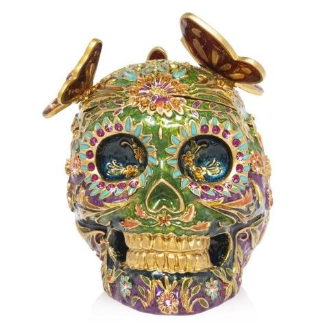 $450.00 Skull with Butterflies Box
