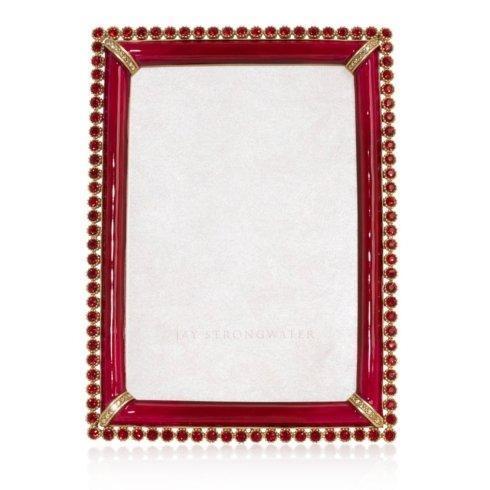 "$595.00 Jay Strongwater Lorraine 4"" x 6"" Frame"