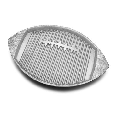 Wilton Armetale  Gourmet Grillware Football Griller $59.99
