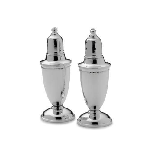 Empire Silver  Sterling Home and Tabletop  Set of 2 Beaded Salt & Pepper Set $160.00