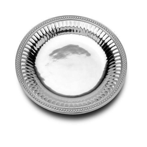 Wilton Armetale  Flutes & Pearls Medium Round Tray $67.99