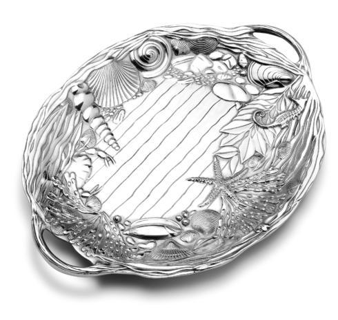$99.99 Sea Life Oval Tray with Handles