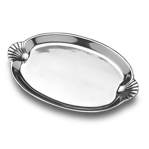 Scallop Handle Oval Tray