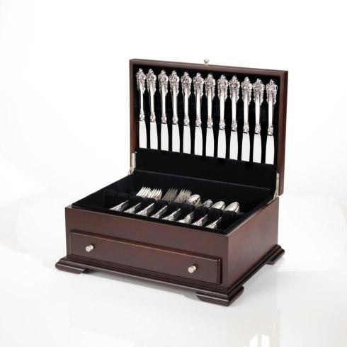 $169.99 Dark Walnut Single Drawer Flatware Chest