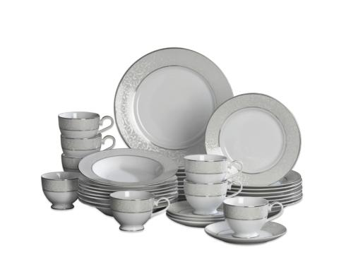 $199.99 Parchment 40PC Dinnerware Set, Service for 8