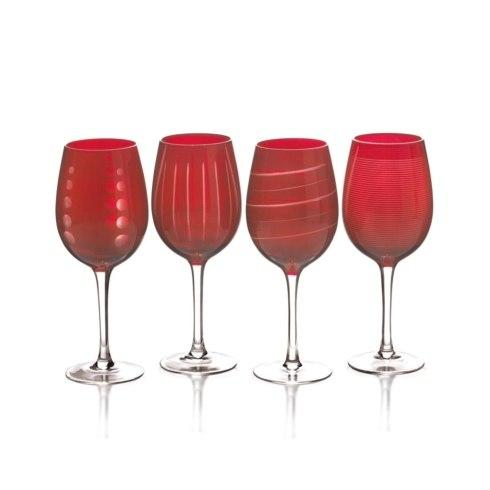 $39.99 Cheers Ruby 15.75 oz. Wine Glass, Set of 4