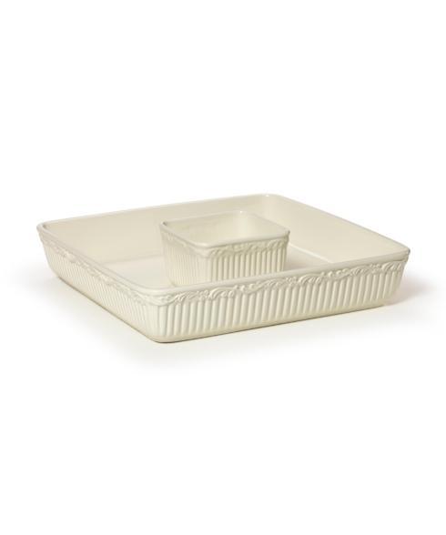 Mikasa  Italian Countryside Dinnerware  Square Chip Dip $68.00