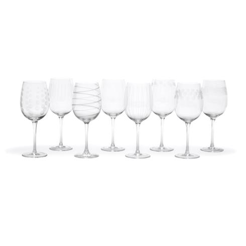 $59.99 15.89 Oz White Wine, Set Of 8
